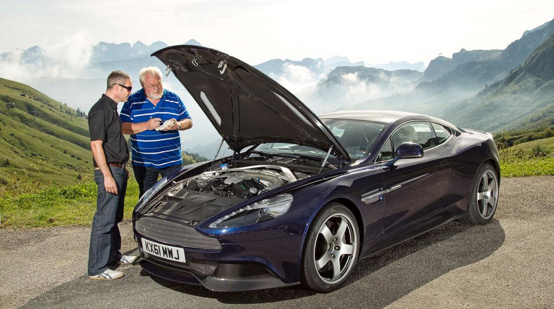 Aston Martin Vanquish, Motorhaube, Malte Jürgens