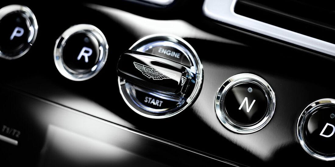Aston Martin Virage Volante, Startknopf