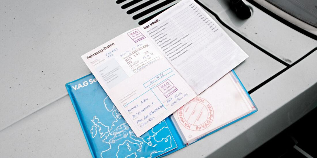 Audi 80, Papiere, Fahrzeugbrief