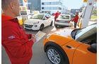 Audi A1 1.0 TFSI, Mini One, Opel Adam 1.0 DI Turbo, Tankstelle