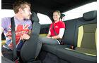 Audi A1 1.2 TFSI, Rücksitz, Innenraum