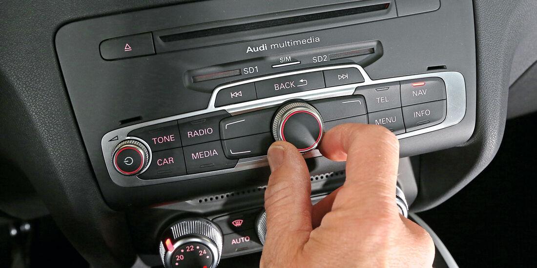 Audi A1 1.4 TFSI, Bedienelement, Mittelkonsole