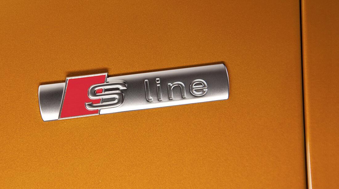 Audi A1 Sportback, Schriftzug S-Line