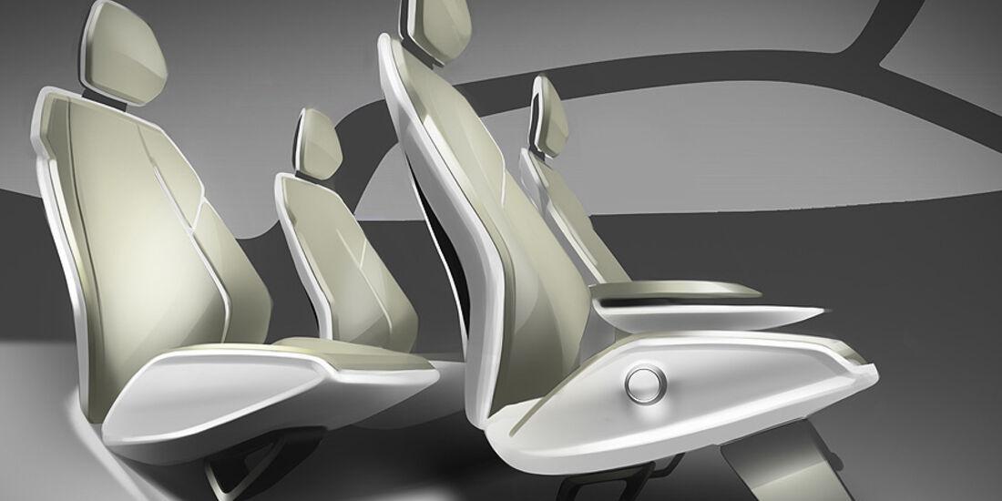 Audi A2 Concept, Sitze