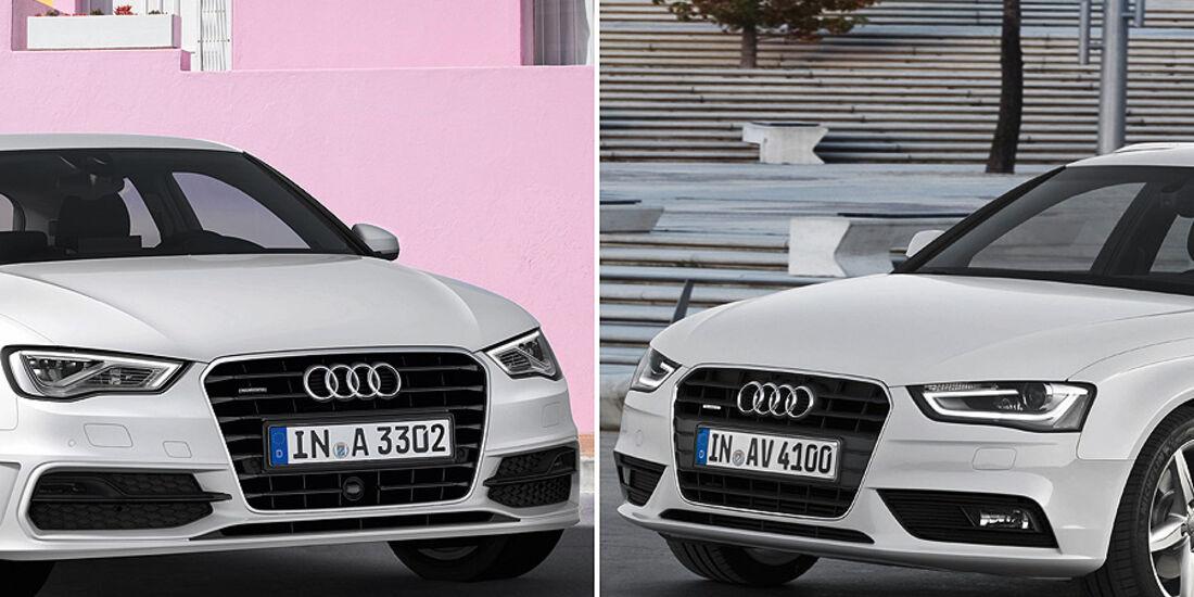 Audi A3, Audi A4, Front