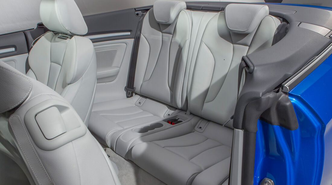 Audi A3 Cabrio, Sitze