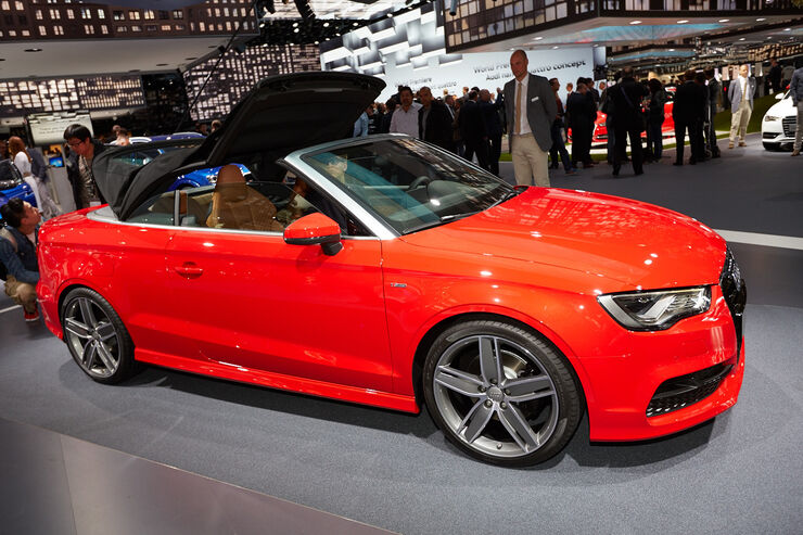 audi a3 cabrio auf der iaa stoffverdeck und stufenheck auto motor und sport. Black Bedroom Furniture Sets. Home Design Ideas
