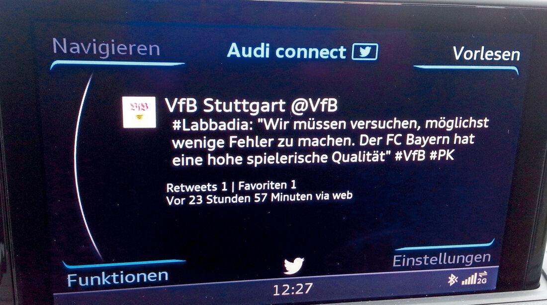 Audi A3, Facebook, Twitter