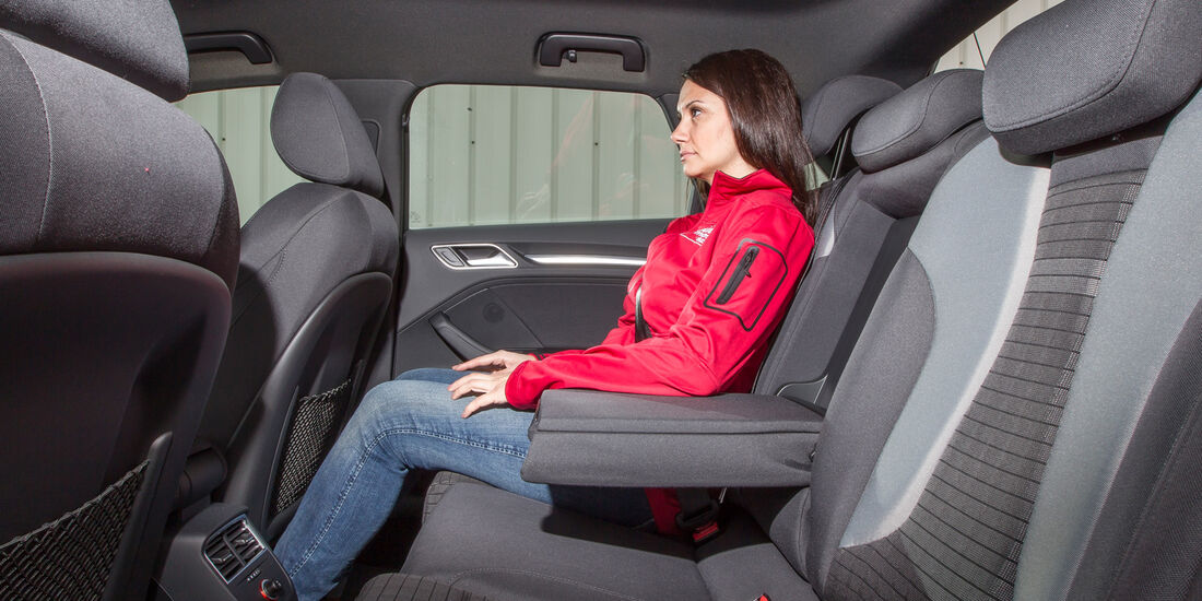 Audi A3 Sportback 1.6 TDI, Rücksitz, Beinfreiheit