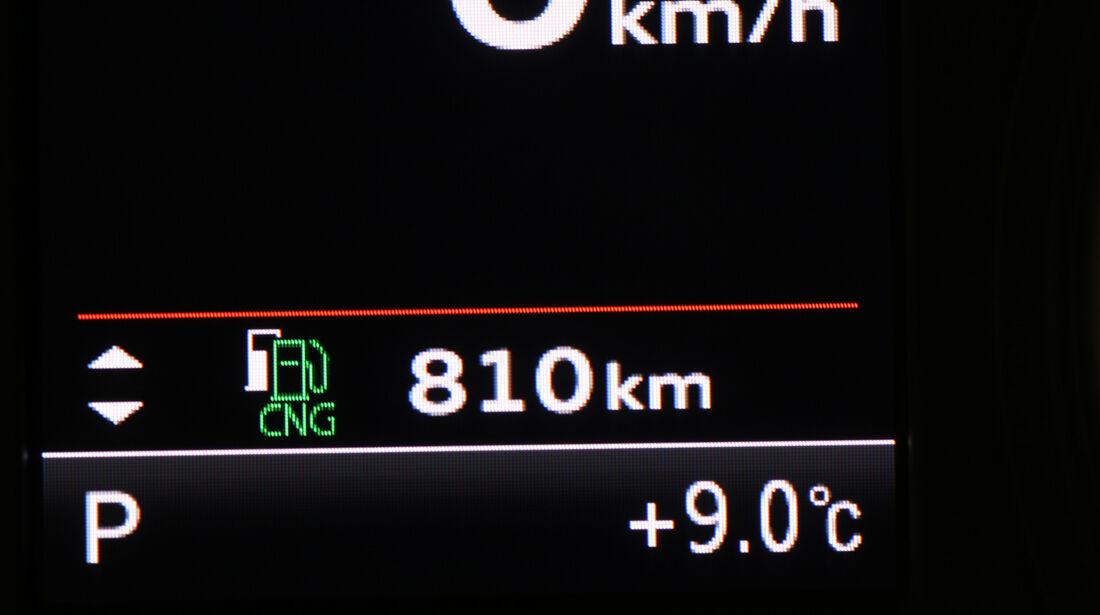 Audi A3 Sportback g-tron, Reichweite