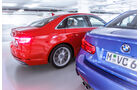 Audi A4 3.0 TDI Quattro, BMW 330d, Heck