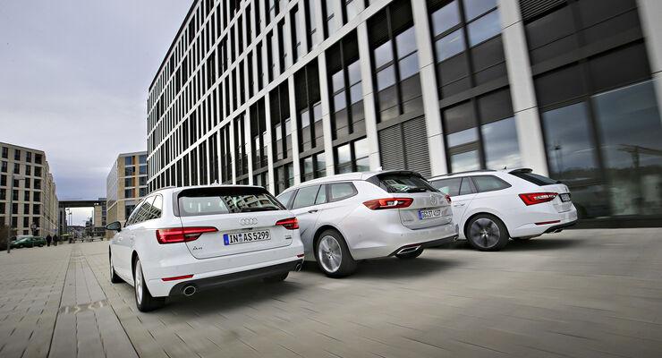 Test Audi A4 Avant Opel Insignia Und Skoda Superb Combi Auto