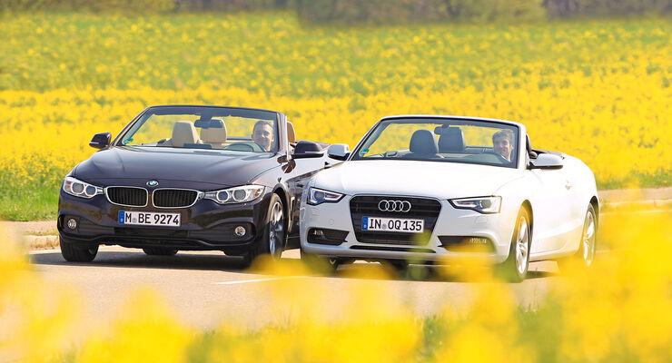 Audi A5 Cabrio, BMW Vierer Cabrio, Frontansicht