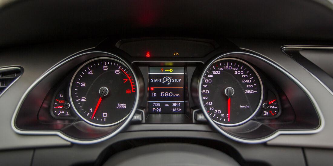 Audi A5 Sportback 3.0 TFSI, Rundinstrumente