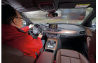 Audi A6 3.0 TDI Quattro, Cockpit, Fahrersicht
