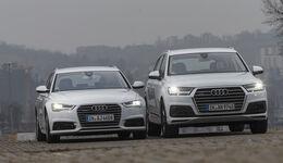 Audi A6 Avant 3.0 TDI Quattro, Audi Q7 3.0 TDI Quattro, Exterieur Front