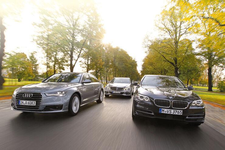 Audi A6, BMW Fünfer, Mercedes E-Klasse