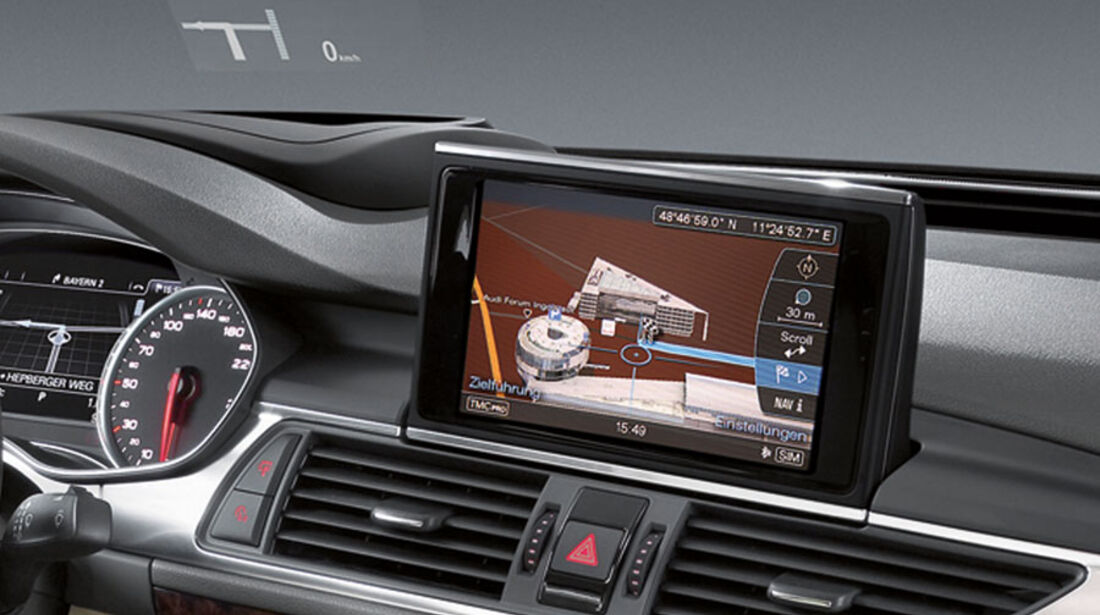 Audi A7 Sportback, Head-up-Display