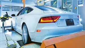 Audi A7 auf dem Rollen-Prüfstand