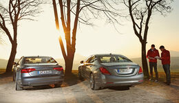 Audi A8 3.0 TDI Clean Diesel, Mercedes S 350 Bluetec, Heckansicht