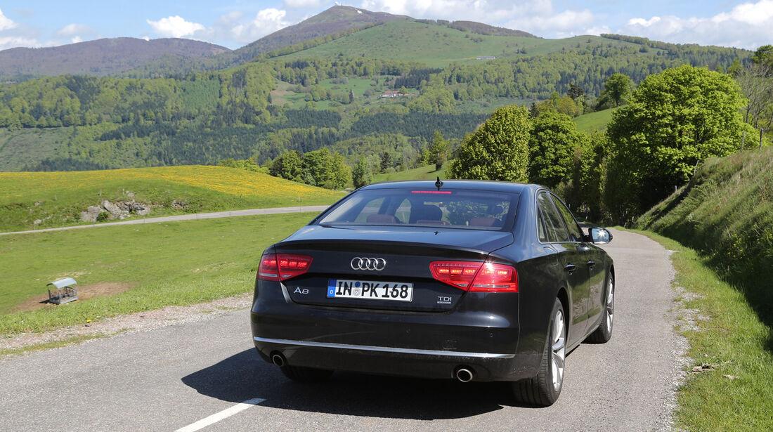 Audi A8 3.0 TDI Quattro, Heckansicht