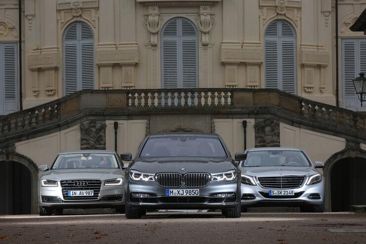 Audi A8 40 Tfsi Bmw 750i Und Mercedes S 500 Vergleich Auto Motor