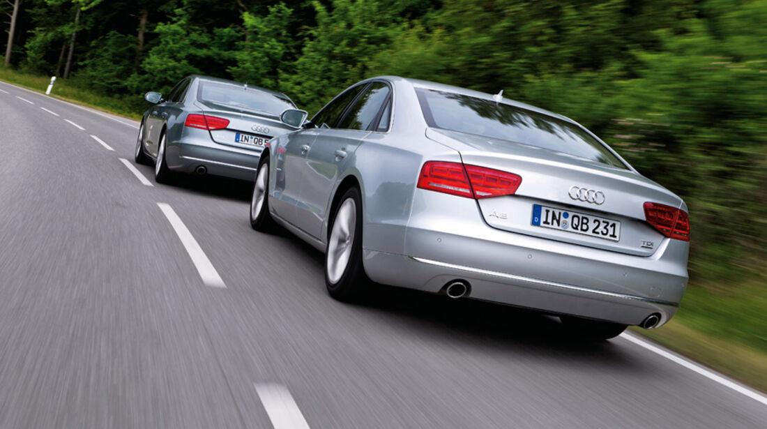 Audi A8 4.2 FSI, Audi A8 4.2 TDI, Heckansicht, Rückansicht