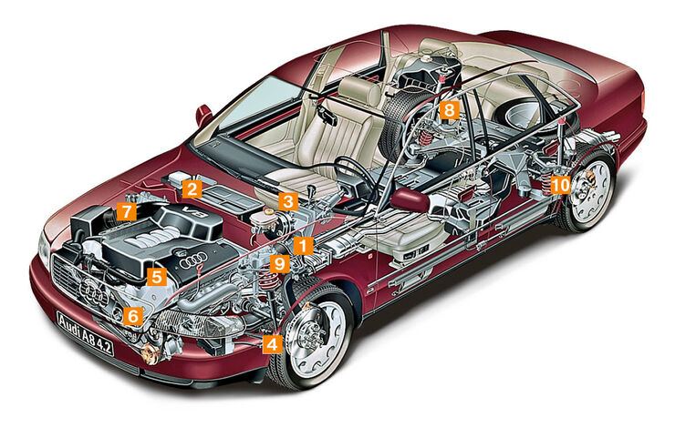 Audi A8, Schwachstellen, Igelbild