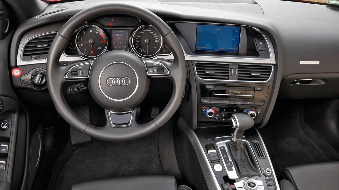 Audi Cabriolet 3.0 TFSI Quattro, Cockpit, Lenkrad