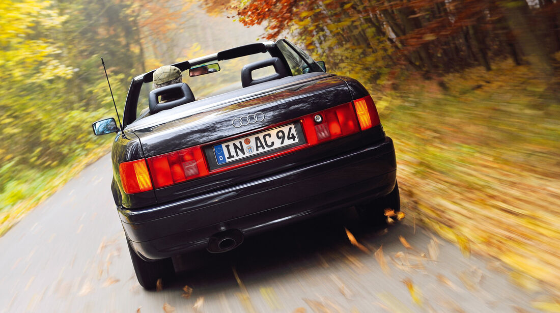 Audi Cabriolet, Heckansicht