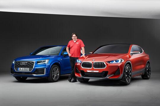 Audi Q2, BMW X2, Frontansicht