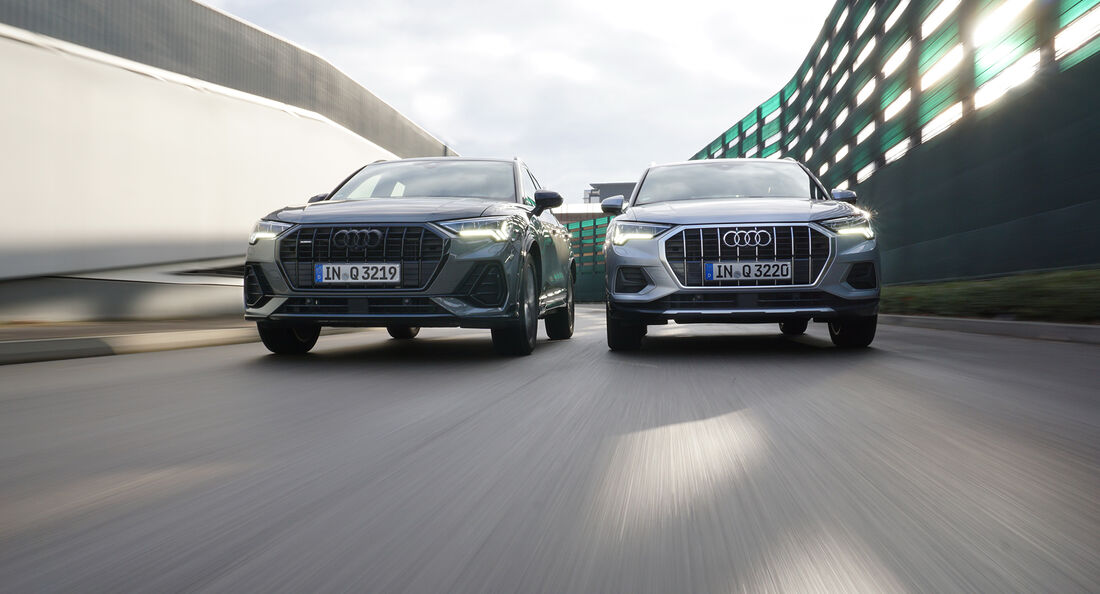 Audi Q3 35 TDI Quattro S line, Audi Q3 35 TSFI Advanced, Exterieur