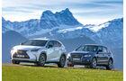 Audi Q5 2.0 TFSI Quattro, Lexus NX 300h E-Four F SPORT, Seitenansicht