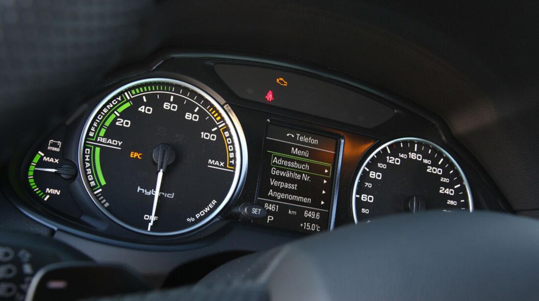 Audi Q5 Hybrid Quattro, Rundinstrumente