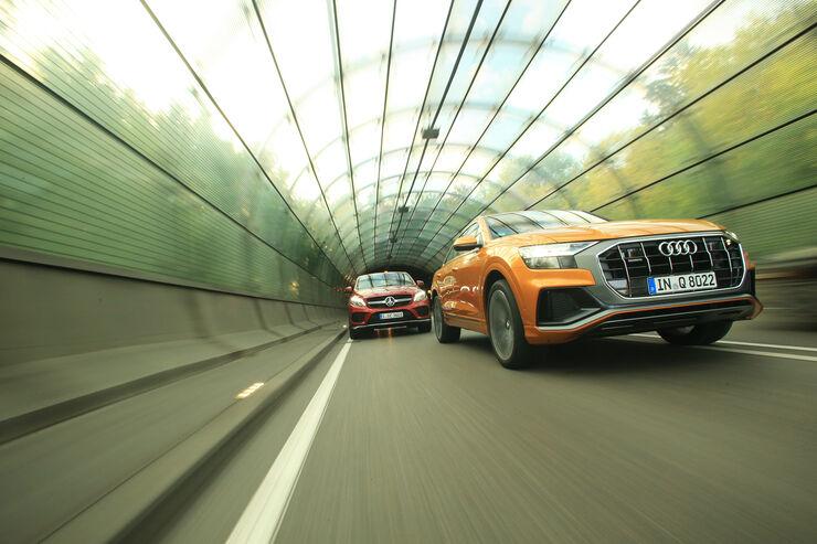 Audi Q8 50 TDI Quattro, Mercedes GLE 350 d Coupé 4Matic, Exterieur
