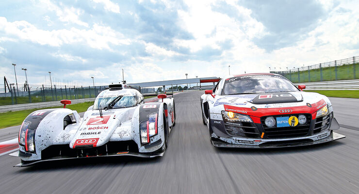 Audi R18 e-tron quattro, Audi R8 LMS ultra, Frontansicht