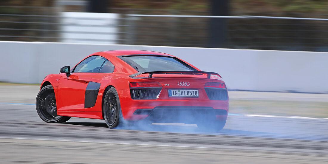 Audi R8 5.2 FSI Quattro Plus, Burnout
