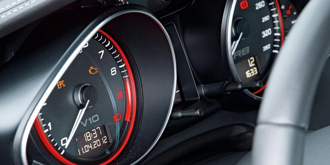 Audi R8 5.2 FSI, Tacho, Rundinstrumente