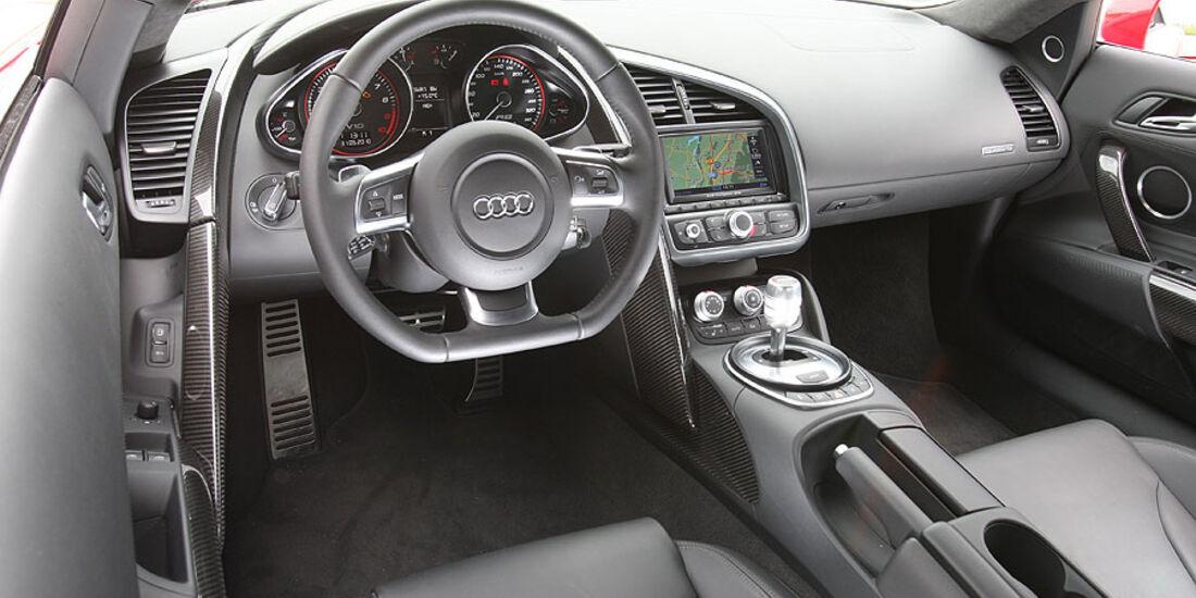 Audi R8, Cockpit