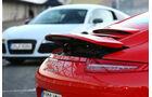 Audi R8 FSI Quattro, Porsche 911 Carrera 4S, Heckspoiler