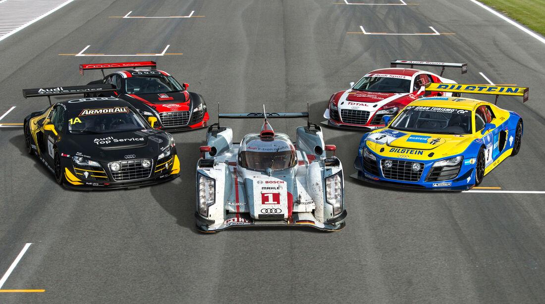 Audi R8 LMS Ultra, Audi R18 E-Tron Quattro, Fahrzeuge