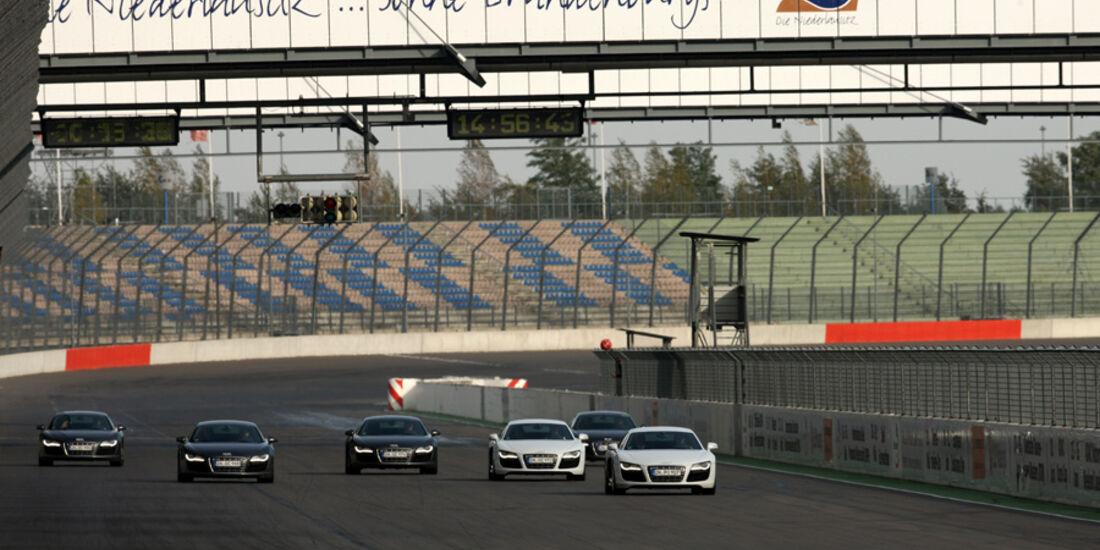 Audi R8, Rennstrecke