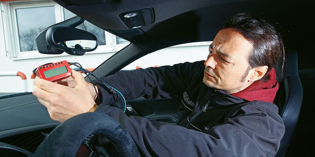 Audi R8 V10 plus 5.2 FSI, GPS-Messsystem