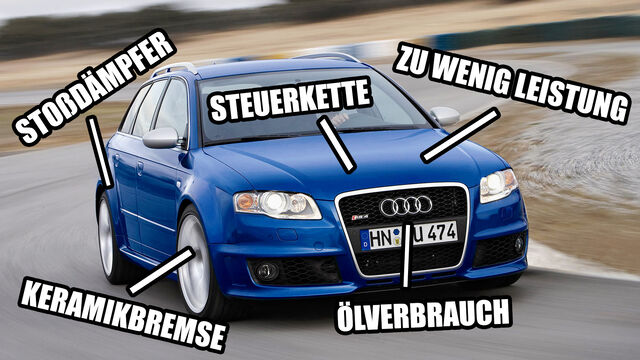 Gebrauchte Supertest-Helden: Schwachstellen Audi RS 4 (B7) - auto ...