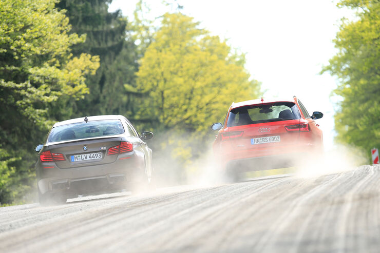 Audi RS 6 Avant Performance, BMW M5 Competition, Heckansicht