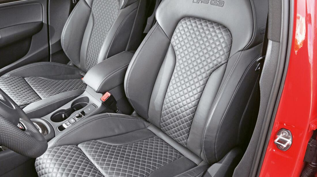 Audi RS Q3, Fahrersitz