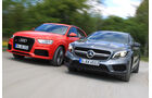 Audi RS Q3, Mercedes GLA 45 AMG, Frontansicht