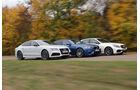Audi RS7, BMW M5, Mercedes E 63 AMG S, Seitenansicht