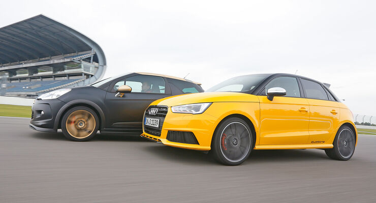 Audi S1 Sportback, Citroën DS3 Racing, Seitenansicht