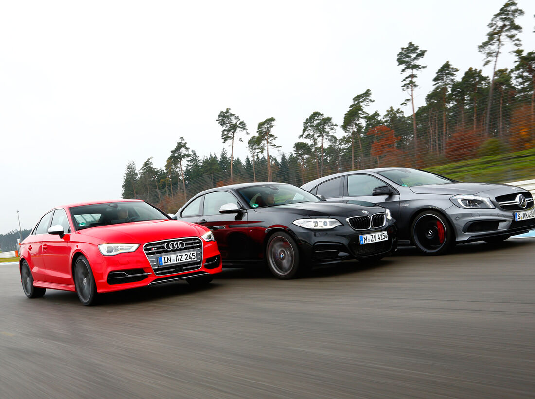 Mercedes A45 AMG, Audi S3, BMW M235i: Drei potente ...